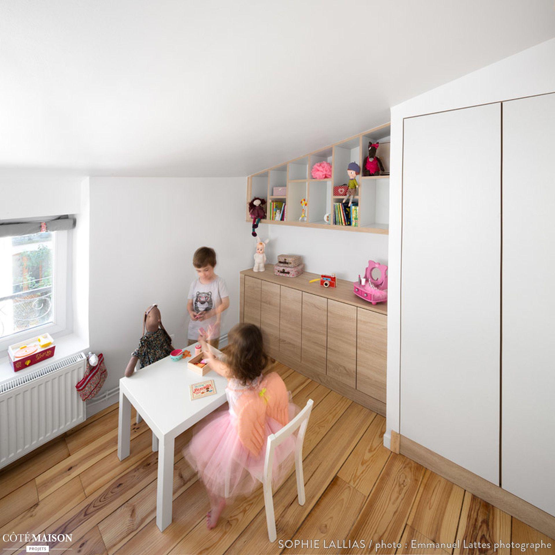 Descriptif Renovation Complete De Combles Pour Creation De Deux Chambres D Enfant Surface Util Chambre Enfant Idee Rangement Chambre Rangement Chambre Enfant