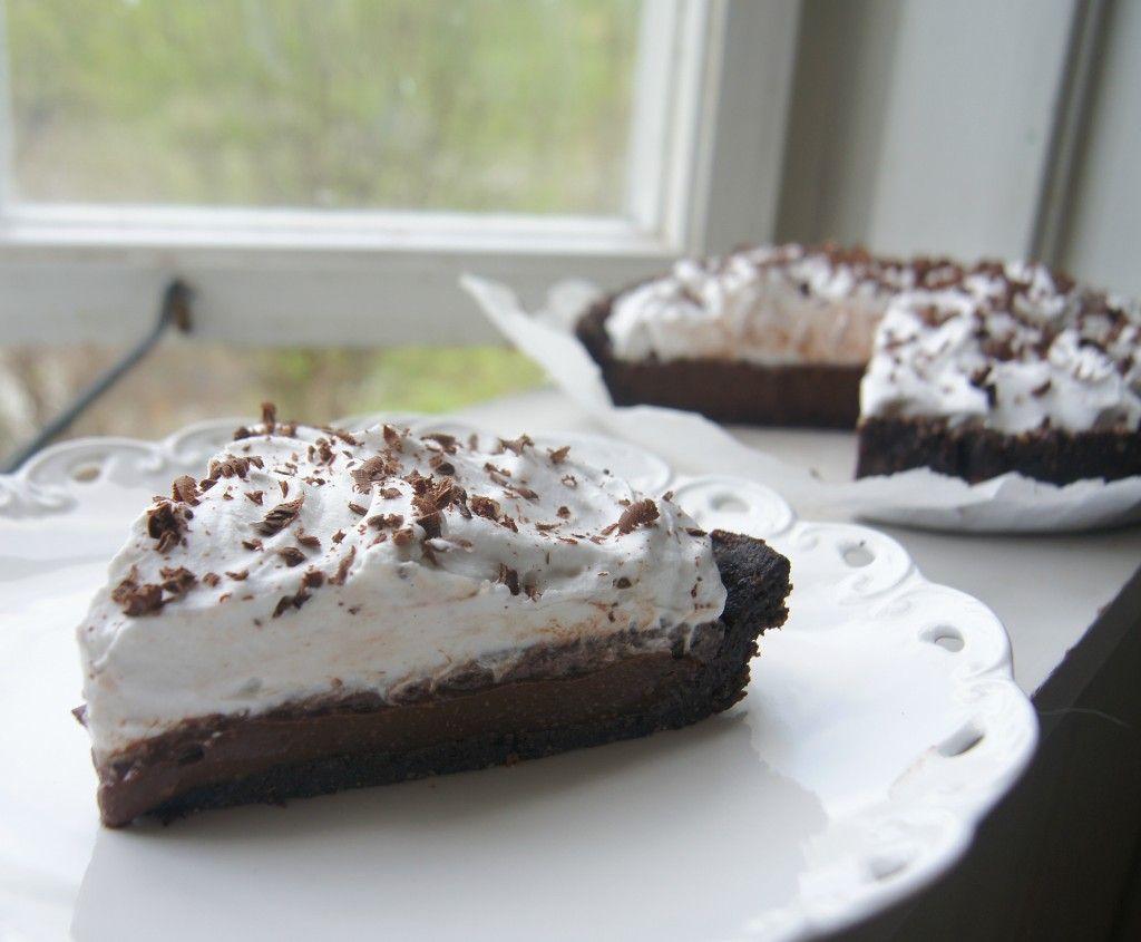 Sinless Vegan Chocolate Cream Pie by Gluten Free Vegan Girl