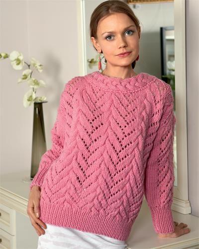 схемы вязания спицами свитеров женских мода улиц розовый свитер