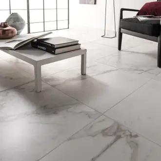 Carrelage Sol Et Mur Intenso Effet Marbre Blanc Murano L 60 X L 60