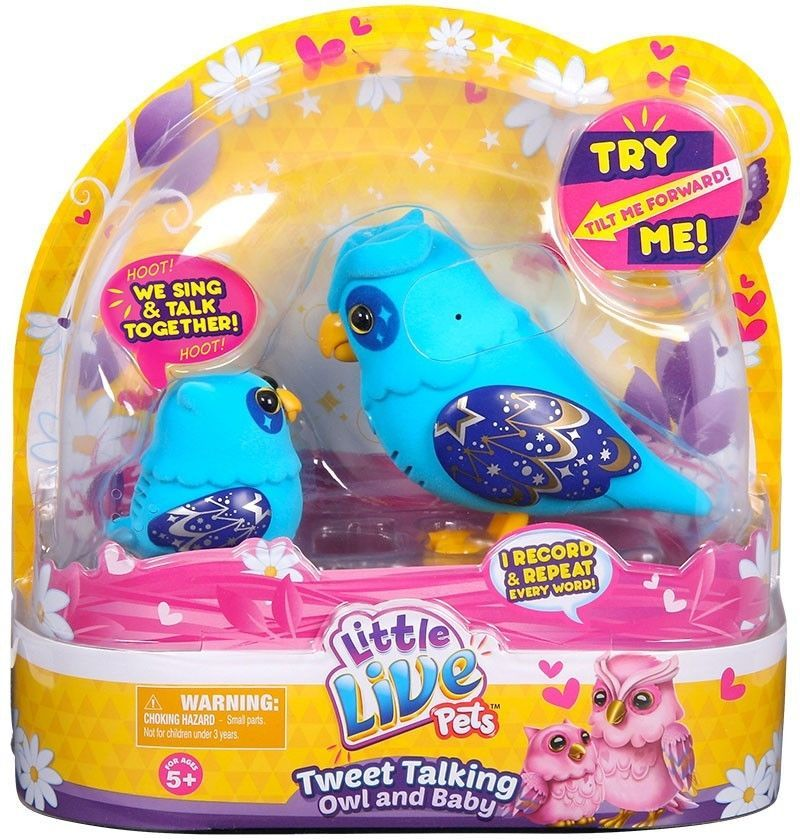 Little Live Petstweet Talking Owl And Baby Nightstar Family Nib Needs Battery Notapplicable Little Live Pets Baby Owls Pets