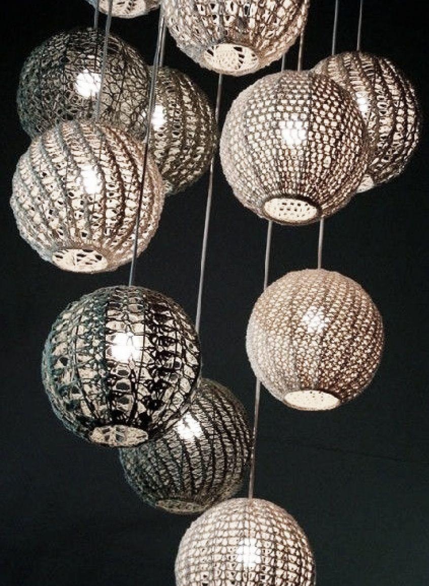 Kreative Ideer Billede Fra Silja Pogule Pa Crochet Lampeskaerm Dekoration
