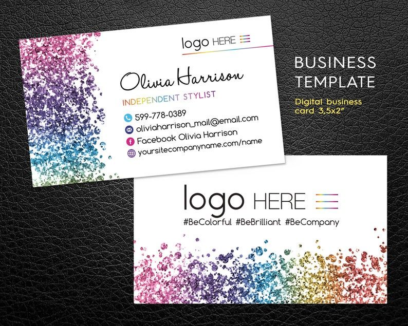 Nail Stylist Business Cards Color Business Cards Custom Etsy Stylist Business Cards Colorful Business Card Custom Business Cards