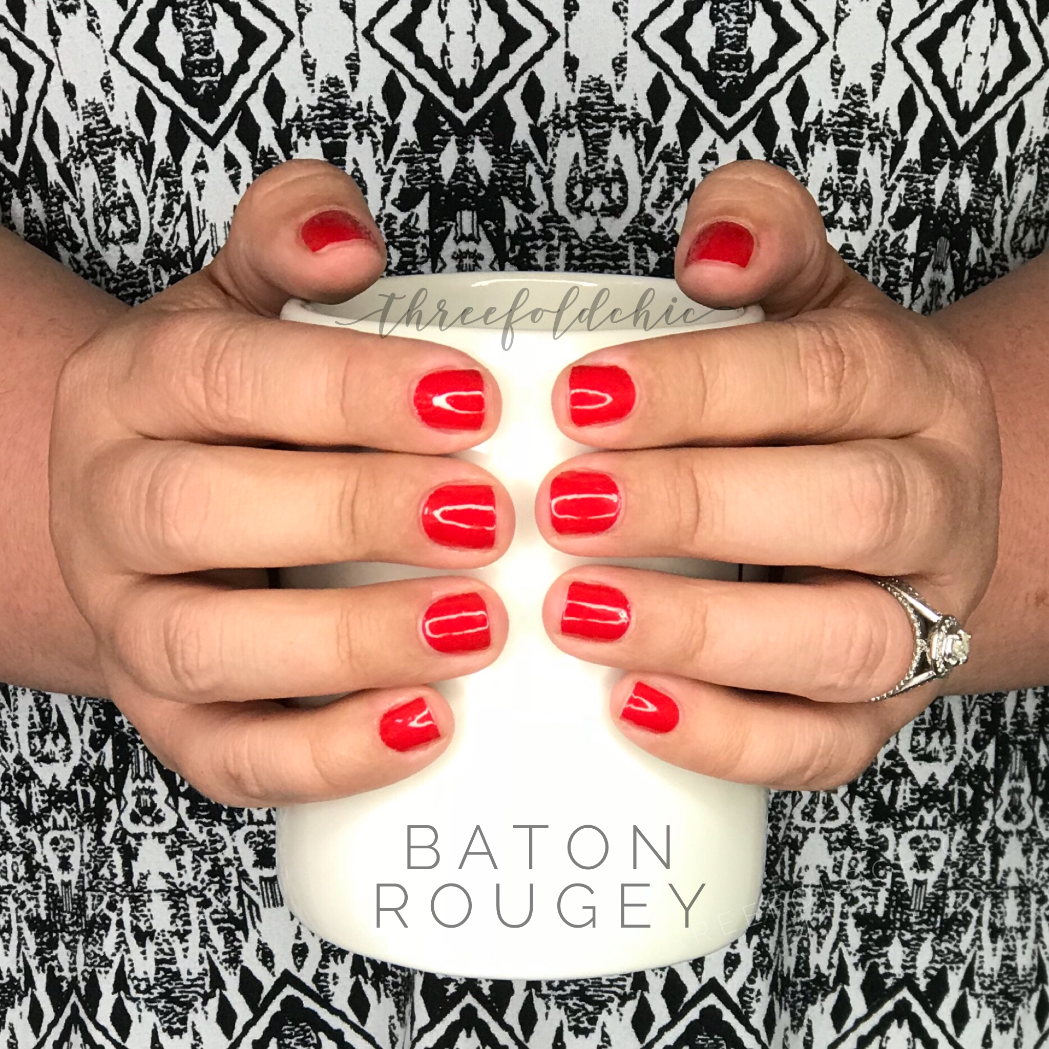 Baton Rougey Color Street Nails Red Manicure Color Street