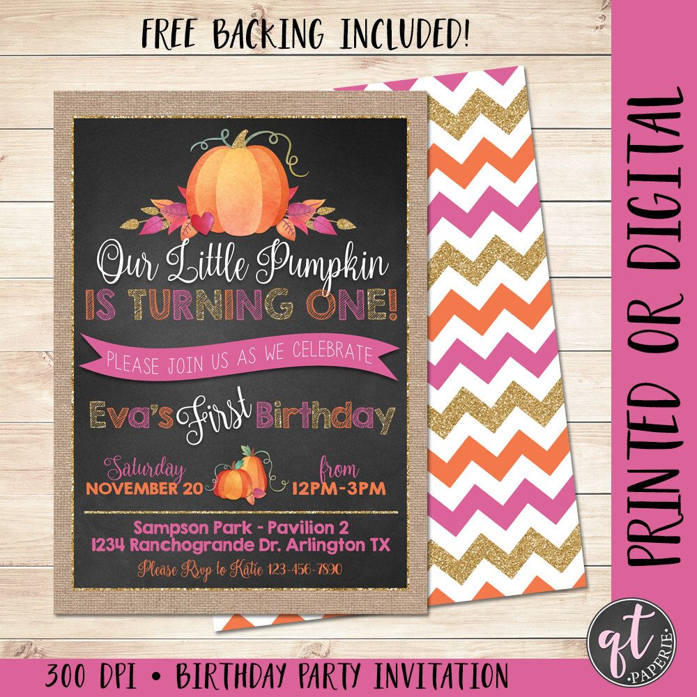Our little pumpkin is turning one invitation girl pumpkin our little pumpkin is turning one invitation girl pumpkin invitation fall birthday invitation pumpkin first birthday pumpkin filmwisefo