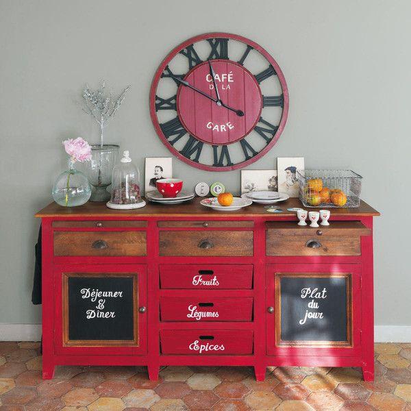 Buffet En Manguier Rouge L 175 Cm Bistrot Relooking Meuble Idee Deco Cuisine Mobilier De Salon