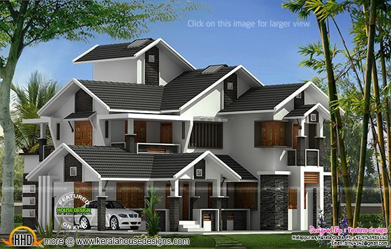 Sloped roof home