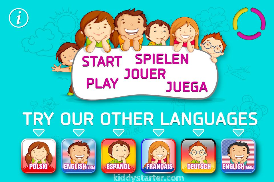 8 fun games, that help your child learn foreign languages. British English, American English, Spanish, German, French, Polish, Chinese, Italian. #kiddy #words
