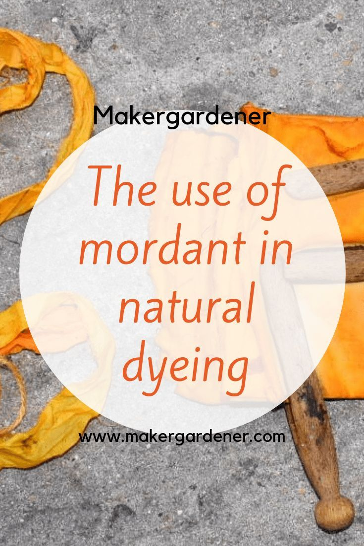Mordant in natural dyeing (part 1)  Maker gardener is part of Eco dyeing fabric - Recent;y I have started using natural dyes again  There is a lot written on this subject of using mordant in the natural dyeing process  I have use mordants sometimes I don't use mordants  It all depends on the property of the natural dye that you …