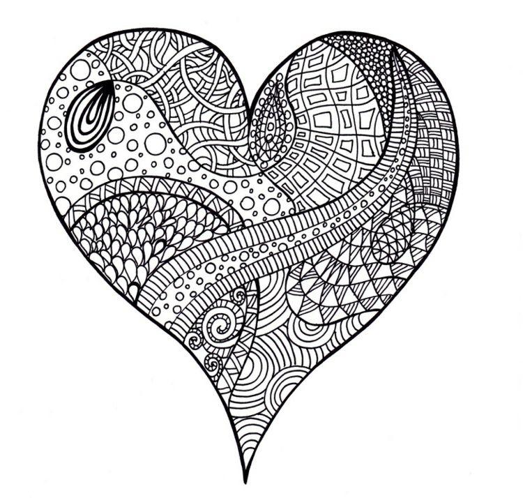 Zentangle Vorlagen Gratis Ausdrucken Zum Ausmalen Selberzeichnen Dekorationen Ideen Zentangle Vorlagen Muster Malen Herz Vorlage