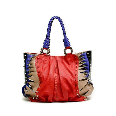 Christian Louboutin Spiked Handbag Now Available On Our Website Louboutin Consignment Handbag Leather Handbags Real Leather Handbags Bags