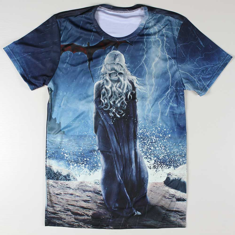 New T Shirts Men Game Of Thrones 3D t shirt O Neck Top Tees ...