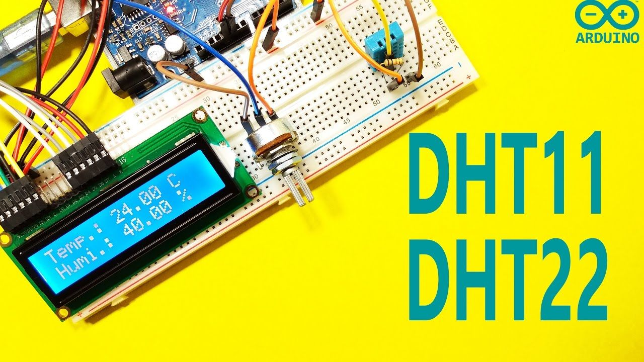 Arduino Tutorial 25 How To Use Dht11 And Dht22 Sensors The Sensor We Will In This Circuit Is A Tcs3200 Color