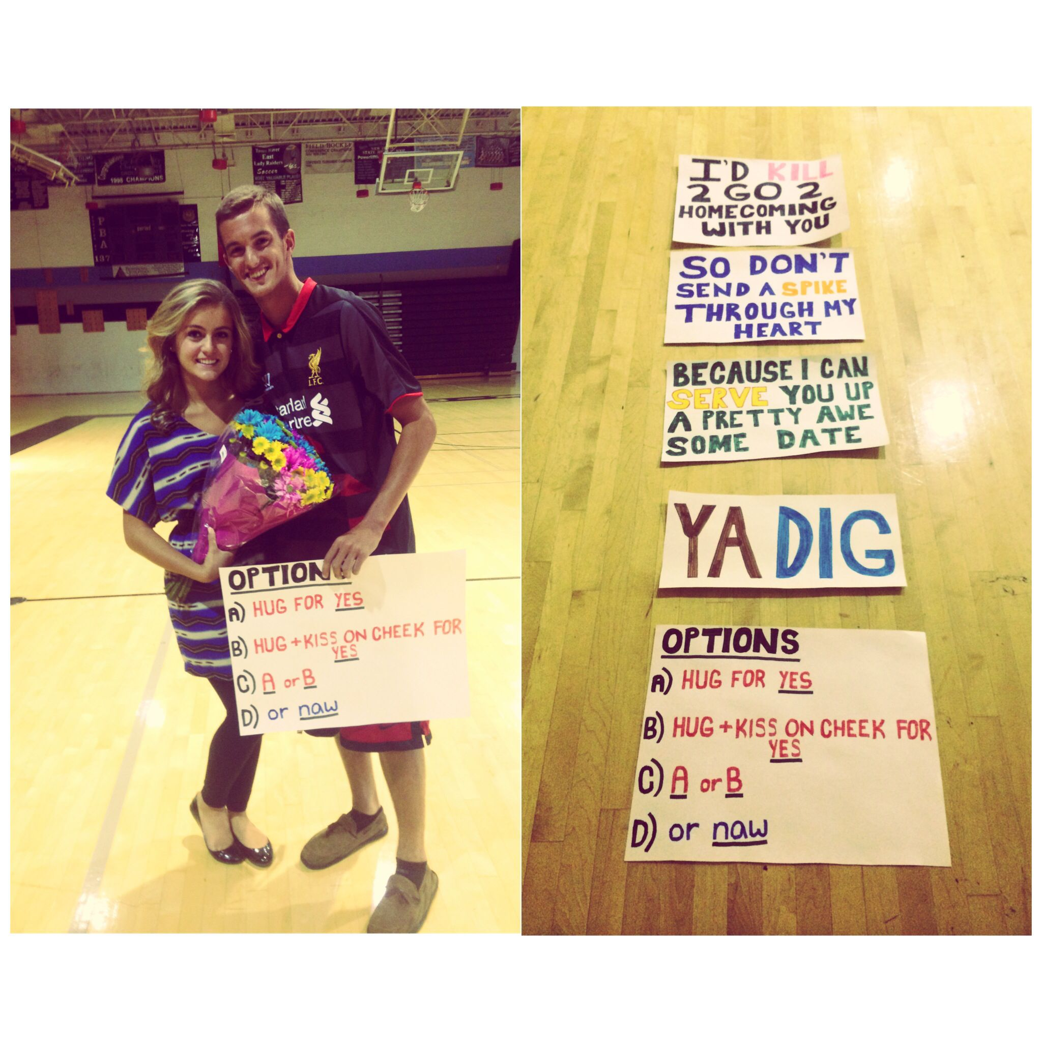 Volleyball Homecoming Proposal! In 2019