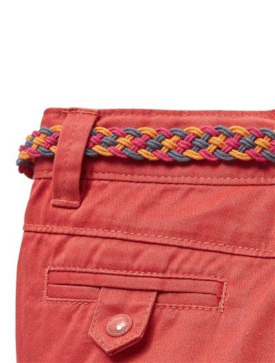 Girl's Twill Chino Trousers BROWN LIGHT SOLID+ORANGE LIGHT SOLID+PINK MEDIUM SOLID - vertbaudet enfant
