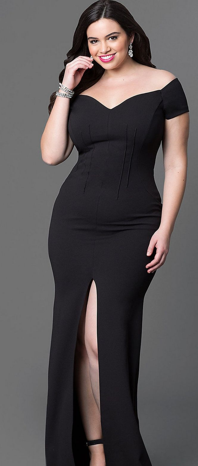 Gorgeous elegant black dress plus size ideas outfit style