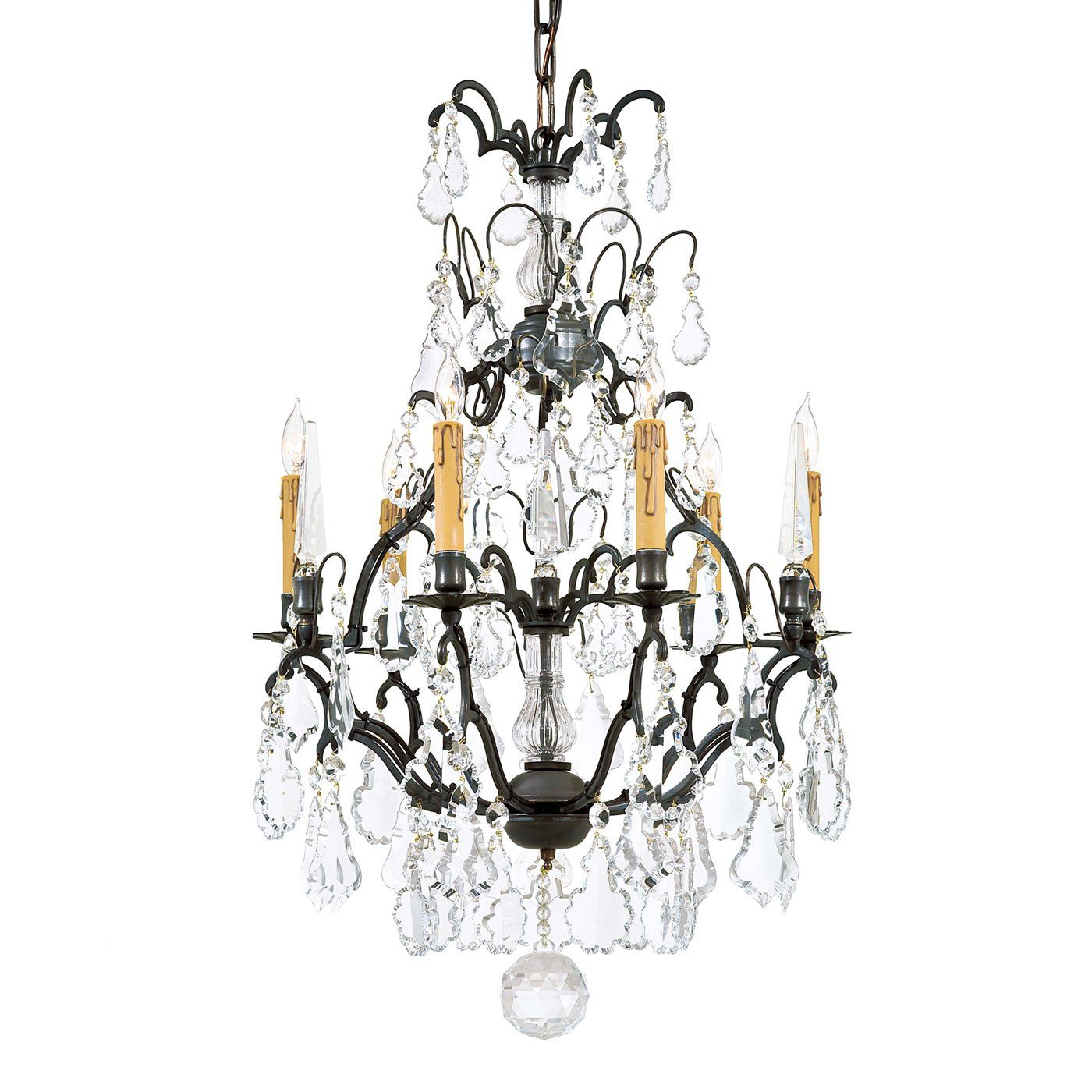 Metropolitan N561A BZ 6 Light Vintage Chandelier Patina Bronze
