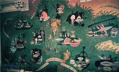 Disneyland's Plaza Pavilion mural, 1962