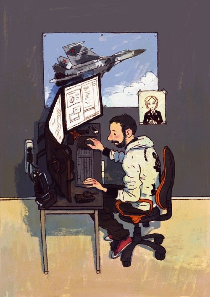 Dmitry Narozhny e seus personagens de IT
