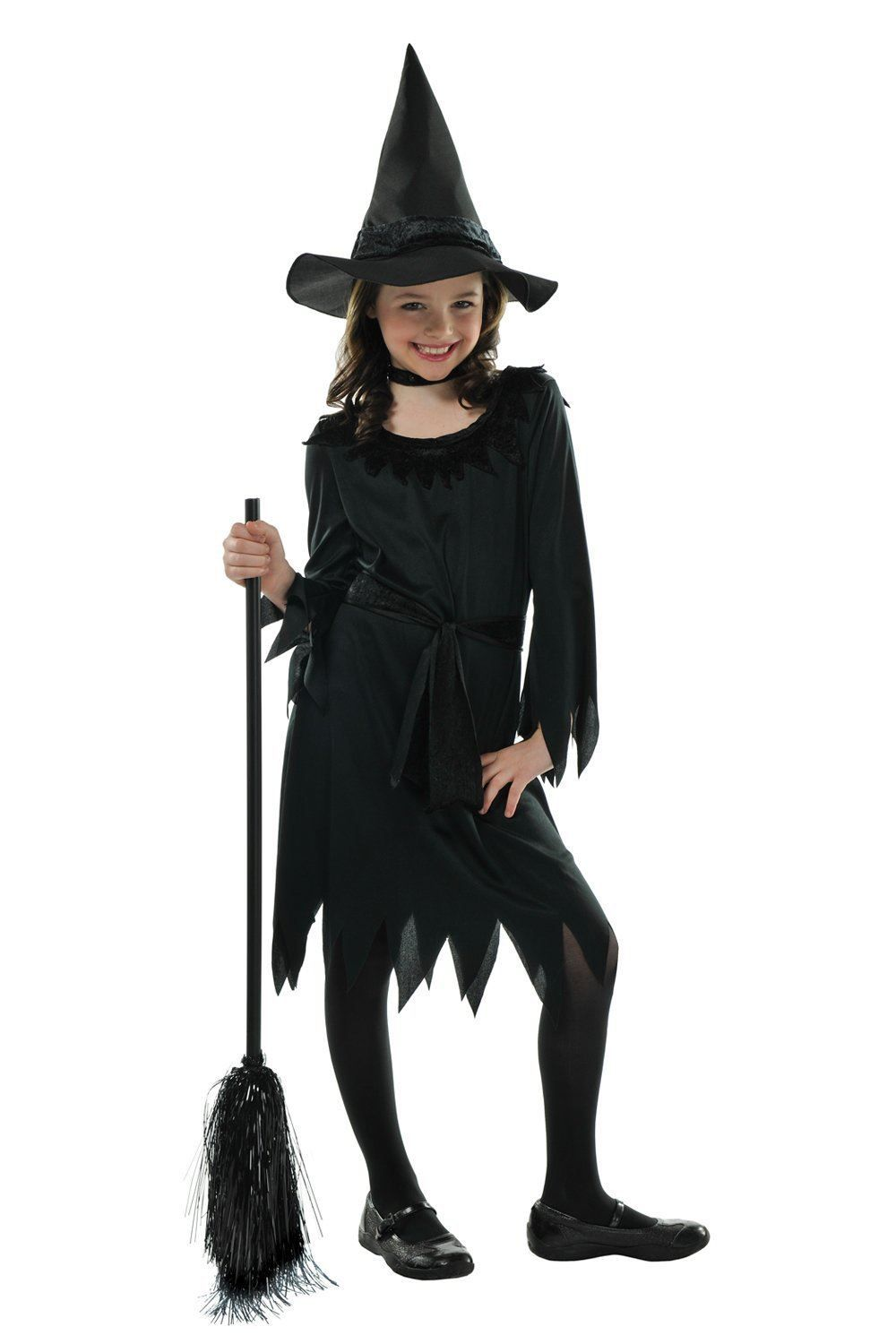 Witch Halloween Trick Or Treat Childs Kids Girls Fancy Dress Cosplay Costume