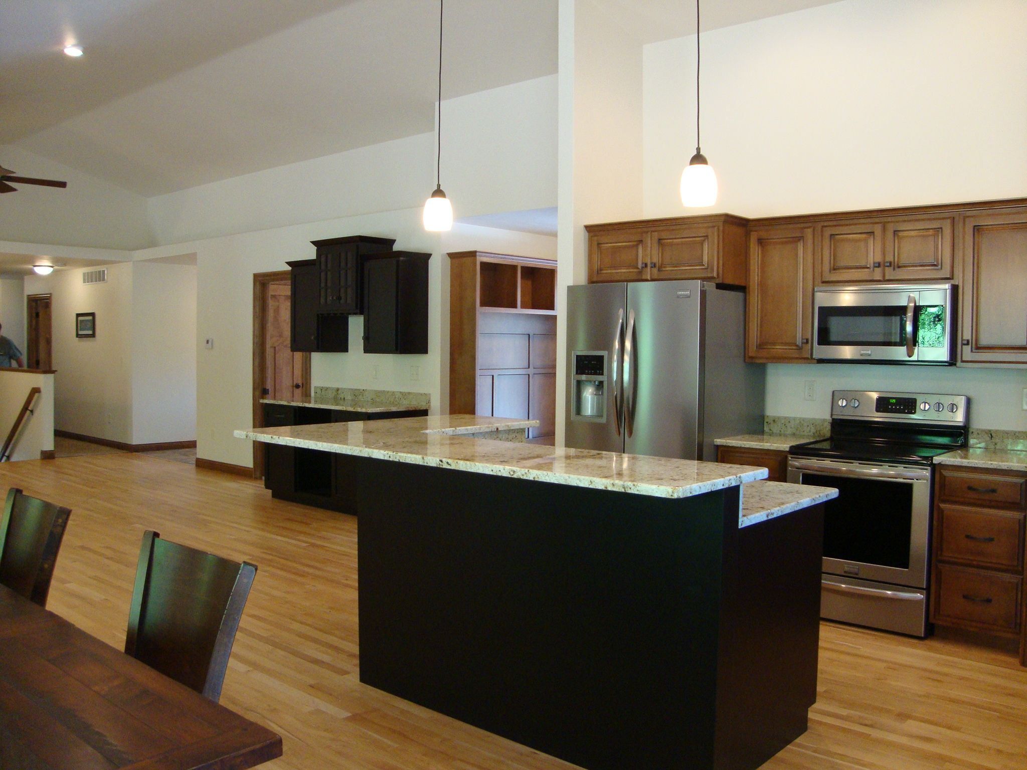 Images Of Rustic Mahogany Cabinets In Kitchens Colonial Cream Granite Counter Tops. Rustic Maple Wood