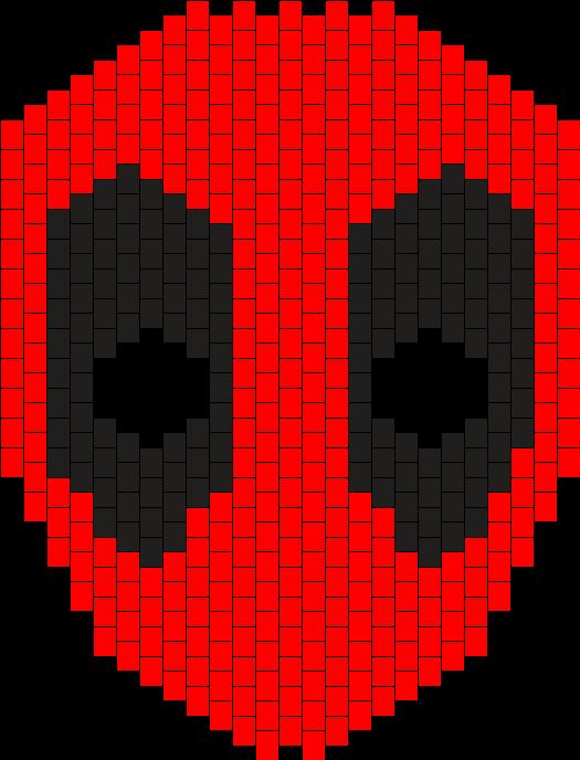 DeadPool Full Face Mask Kandi Pattern   to-do   Peyote