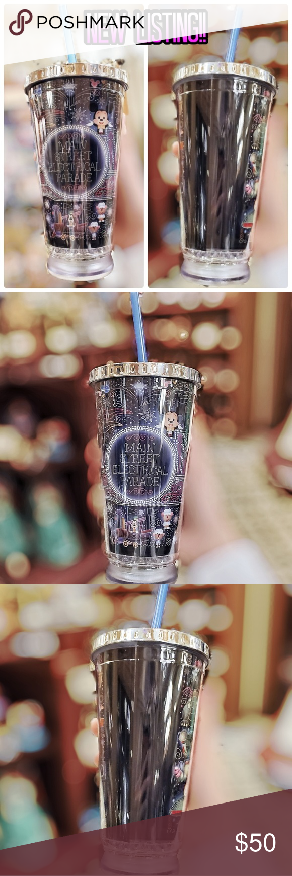 DISNEY EXCLUSIVE MAIN ST ELECTRICAL PARADE TUMBLER 100% AUTHENTIC AND BRAND NEW DISNEY PARKS MERCHANDISE   ****PLEASE NOTE******** THERE MIGHT BE MINOR SCRATCHES/MANUFACTURE IMPERFECTIONS ON THESE TUMBLERS... BUT NO CRACKS  DISNEY PARKS EXCLUSIVE LIMITED EDITION MAIN STREET ELECTRICAL PARADE LED LIGHT UP TUMBLER BY Jerrod Maruyama Disney Kitchen Coffee & Tea Accessories #disneykitchen