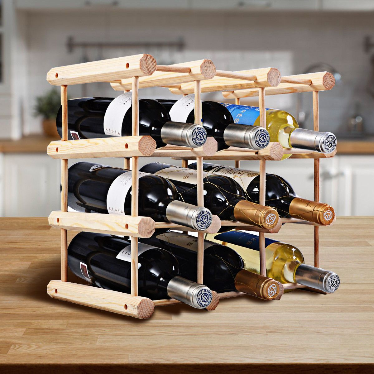 Zoomed Image Wooden Wine Rack Wine Rack Bottle Rack