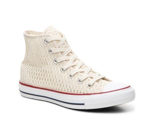 ffd3079e9532 Women s Converse Chuck Taylor All Star Crochet High-Top Sneaker - - Creme