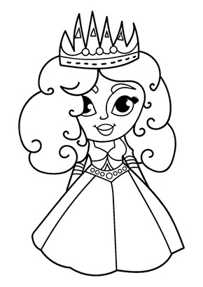 Ausmalbild Kleine Prinzessin Princess Coloring Pages Princess Coloring Colorful Drawings
