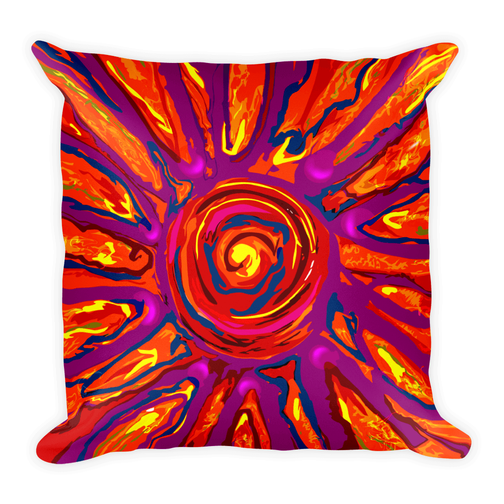 Solar Eclipse Throw Pillow - SOLAR SPLASH - Path of Totality August 21, 2017