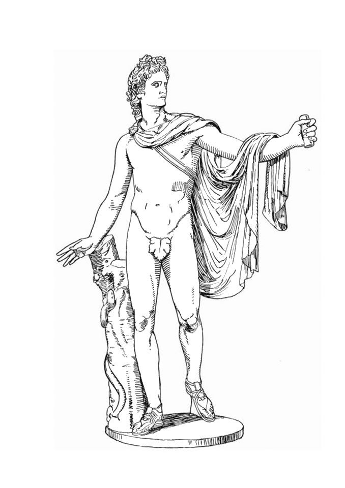 greek gods coloring pages god apollo