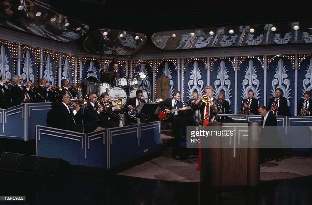 Image result for image, photo, picture, doc severinsen, tonight show band