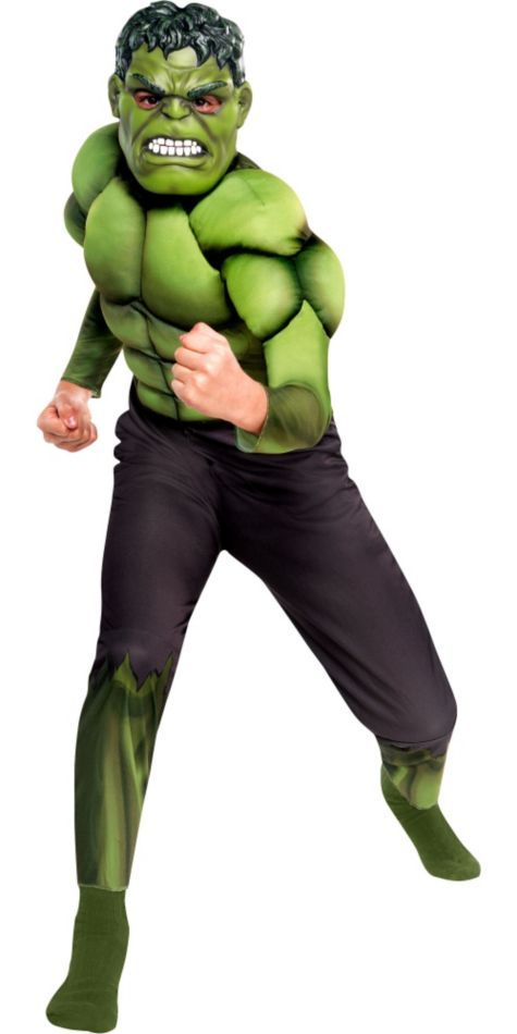 Boys Hulk Muscle Costume - The Avengers - Party City  sc 1 st  Pinterest & Boys Hulk Muscle Costume - The Avengers - Party City | halloween ...