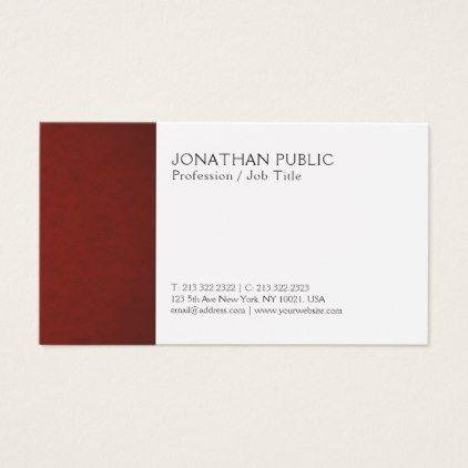 Create Your Own Modern Elegant Creative Plain Business Card   Architect  Gifts Architects Business Diy Unique