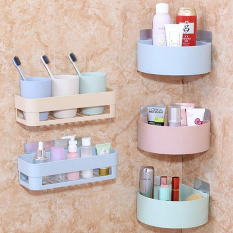 Plastic Corner Storage Rack Shampoo Organizer Bathroom Shelf  Shower Holder