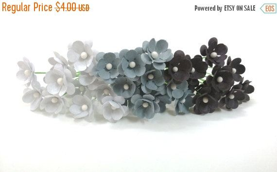 Gray paper flowers grey paper flowers set of 75 small paper 40 off gray paper flowers grey paper flowers set of 75 small paper mightylinksfo Choice Image