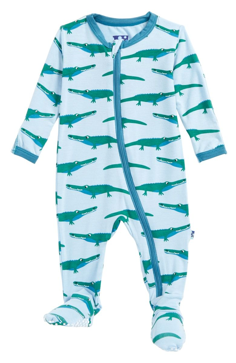 KicKee Pants Baby-Boys Printed Footed Coverall