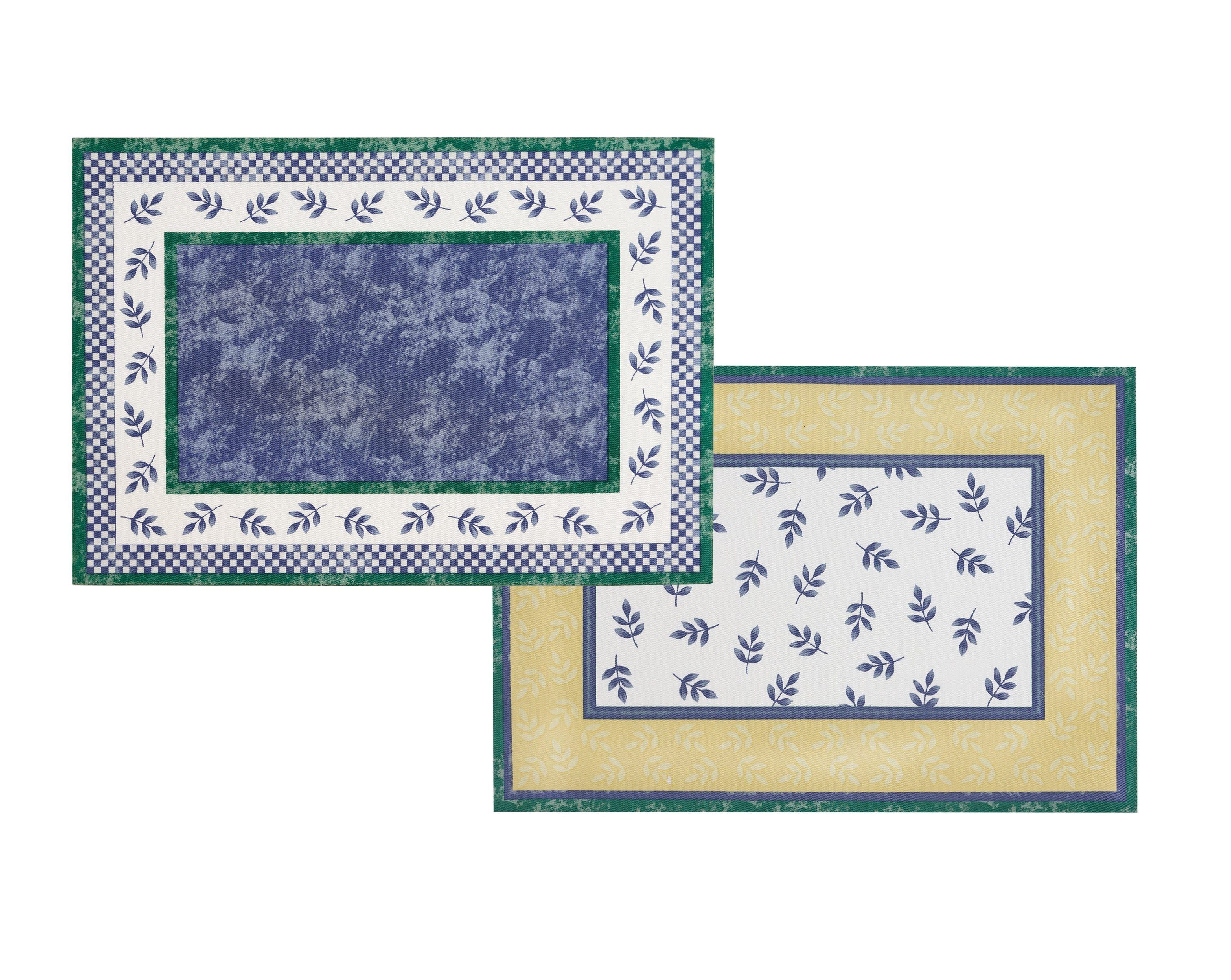 Villeroy Boch Switch 3 Cotton Fabric Reversible Placemat 14 X20 Set Of 4 Placemats Villeroy Boch Marble Detail