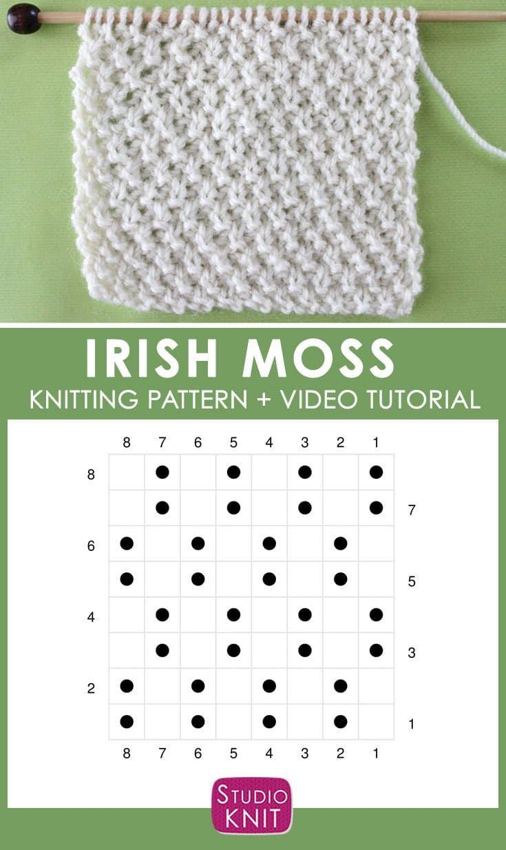 Comment tricoter le motif de point IRISH MOSS avec Studio Knit   – knitting