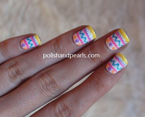 Easter nails! So cute. She also has a design with eggs hidden the grass - Easter Nails! So Cute. She Also Has A Design With Eggs Hidden The