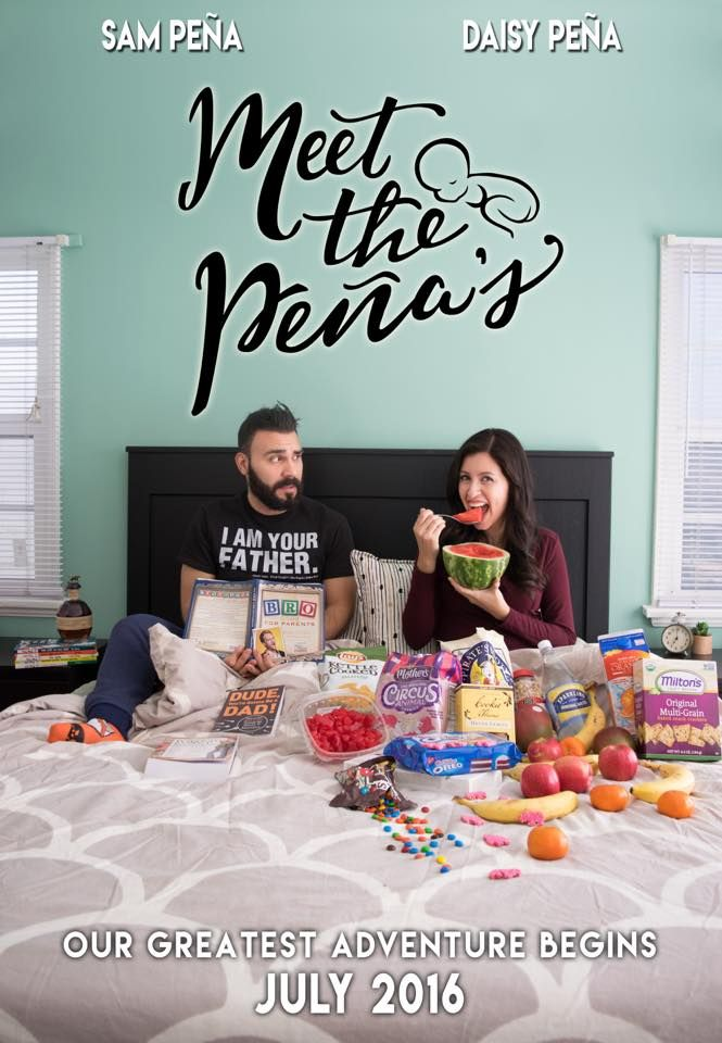 Fun pregnancy announcement that looks like a movie poster – Fun Baby Announcement