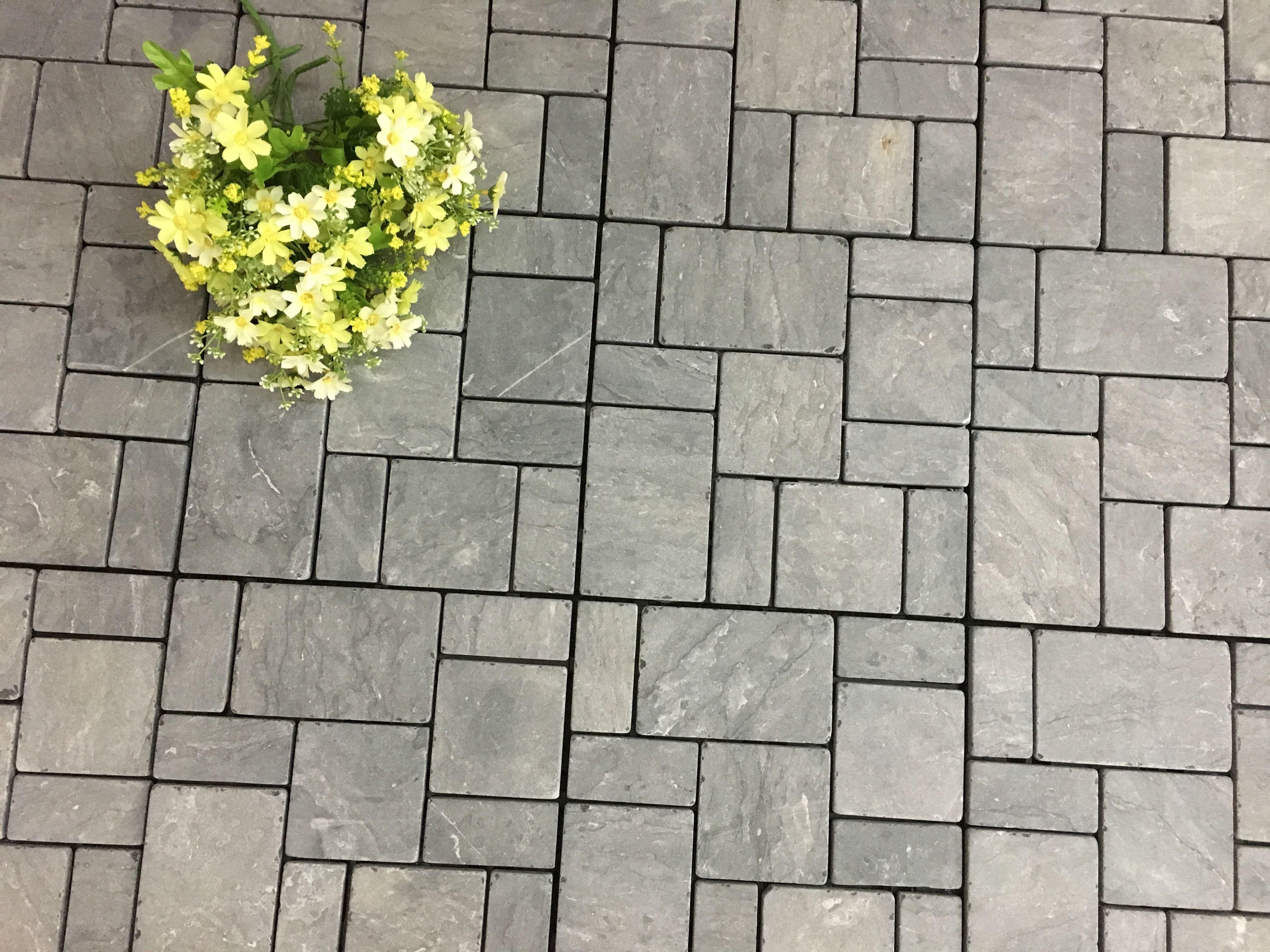 Kontiki Interlocking Deck Tiles Travertine Stone Series 12 X12