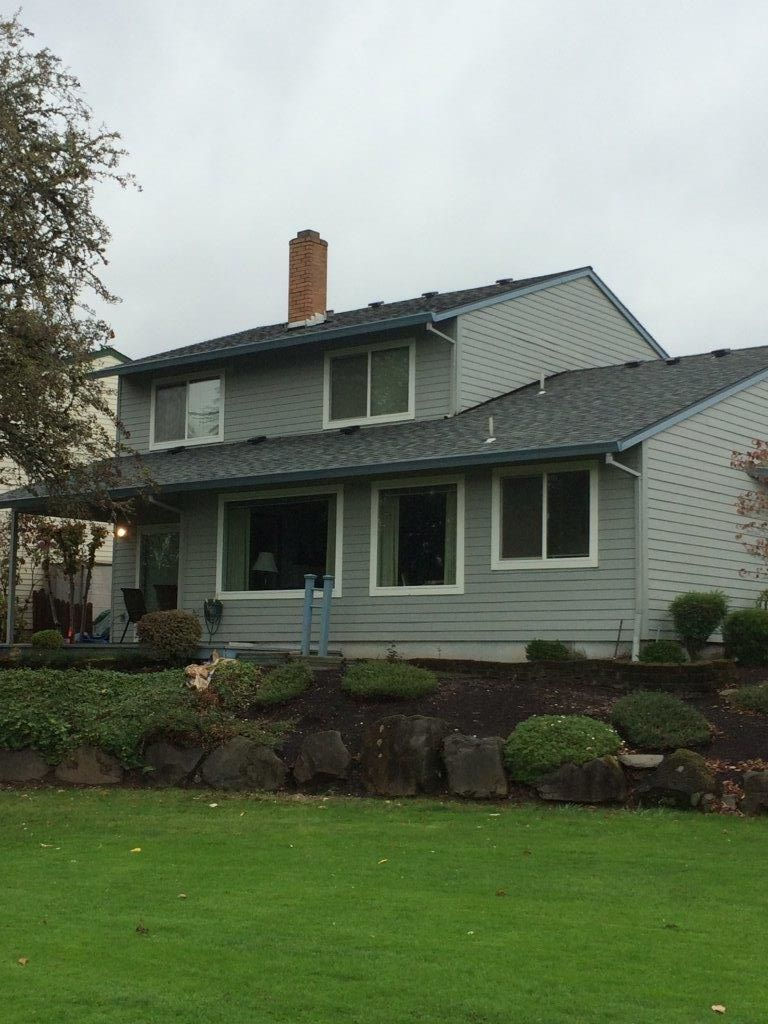 Certainteed Landmark Granite Grey Roof Installation By Orion Roofing And Sheet Metal In Tigard Oregon Roofing Roof Installation Roofing Contractors