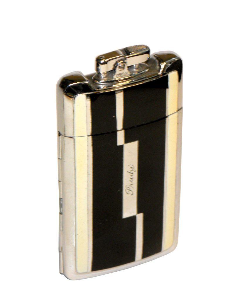 1930 S Art Deco 2 Colour Enamel Ronson Smart Set Case Lighter Smart Set Art Deco Deco