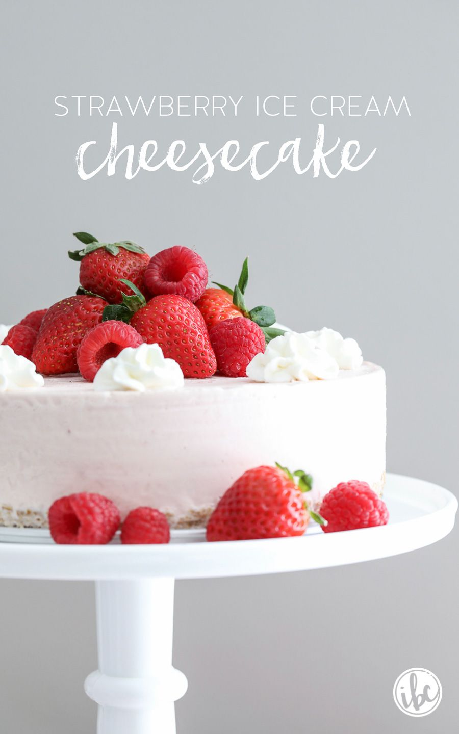 Strawberry Ice Cream Cheesecake #cheesecakeicecream