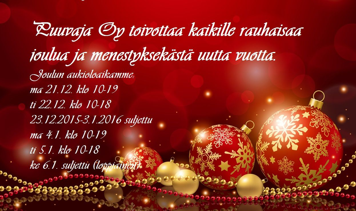Rauhaisaa joulua 2015