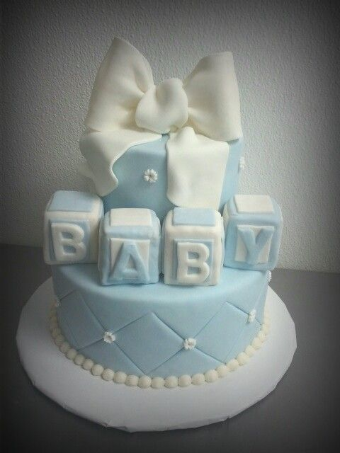 Baby Shower Boy Blue Cake Kellysweetrewards