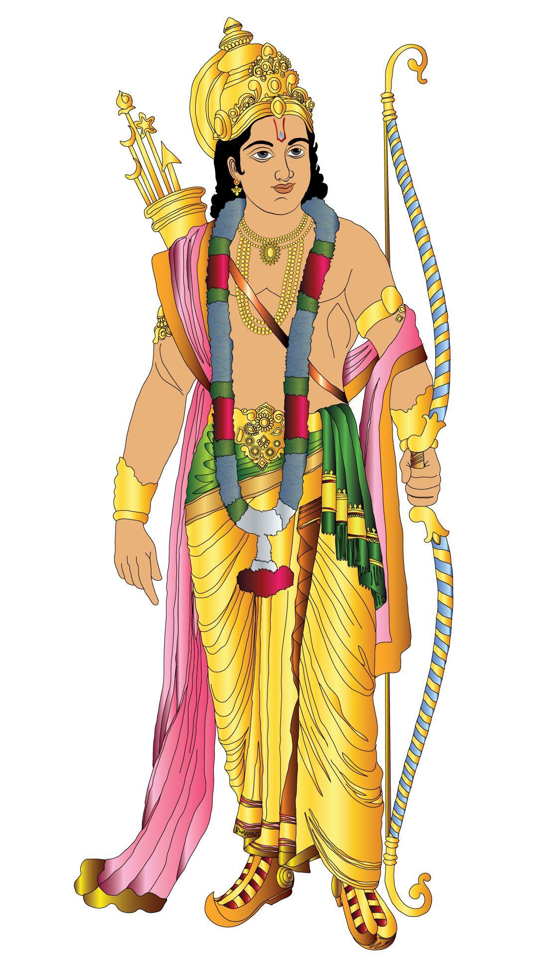 Download Standing Lord Rama  Wallpapers 4565646 Hindu Avatar Vishnu Mobile9