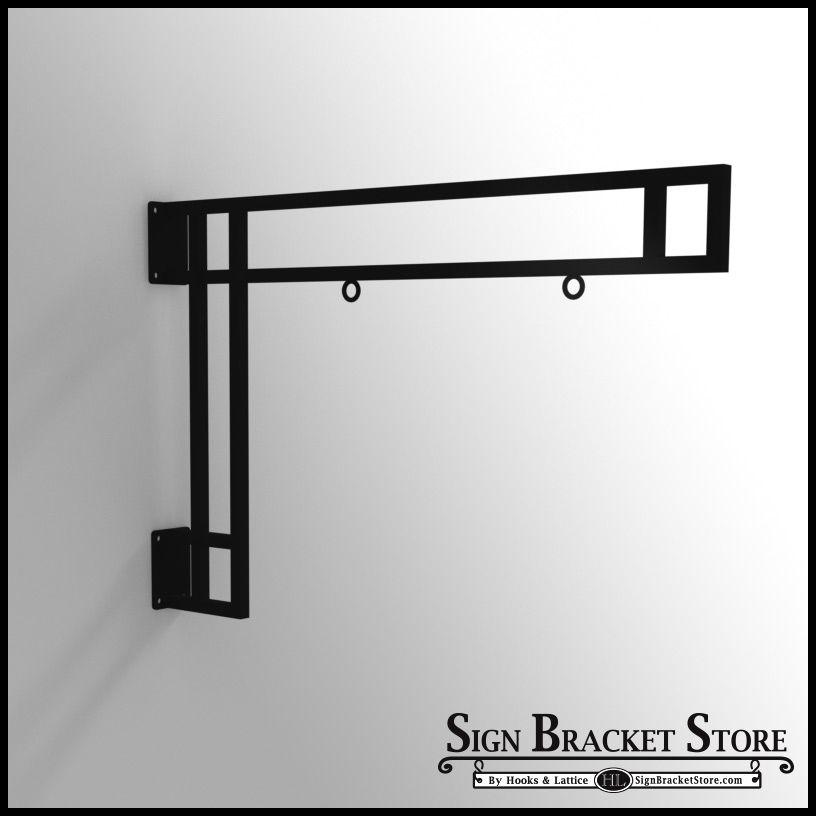 36in Modern Truss Hanging Sign Bracket Hanging Signs
